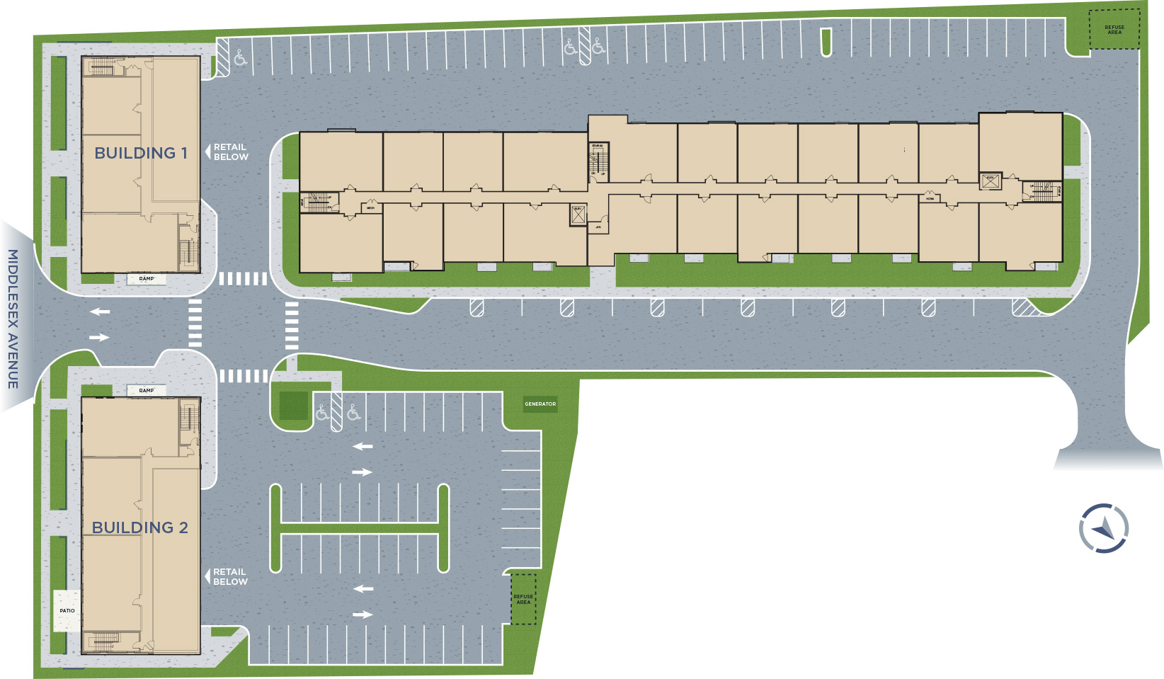 the Hub at Metuchen Siteplan